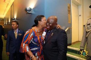 President Akufo-Addo and his wife, Rebecca