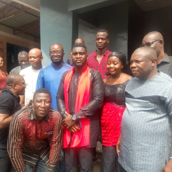 Ghana FA president and top officials attend funeral service of late Henry Aryee