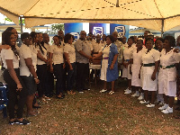 Staff of the Transactional Product and Services unit of Stanbic Bank donates to Hospital