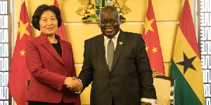 President Addo Danquah Akufo-Addo and Chinese Vice Premier, Sun Chunlan