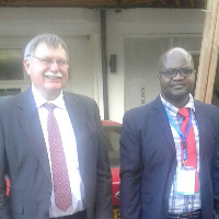 Prof. Barry Green (left) and Prof Franck Kalaka Mutombo
