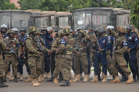 Some officers of the Anti-Galamsey Taskforce