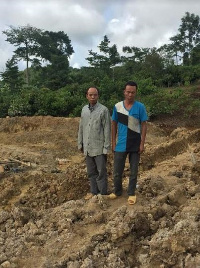 Two of the suspected Chinese illegal miners arrested at the site