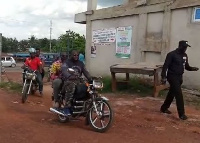 The angry youth stormed the Tafo Pankrono M/A JHS on motorbikes