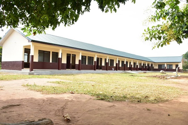 The newly constructed 6 unit cassroom block for Nhyiaeso Basic School