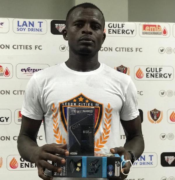 Shamsu Alhassan; Legon Cities midfielder wins MVP in Accra derby