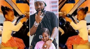 Davido with his daughter Imade