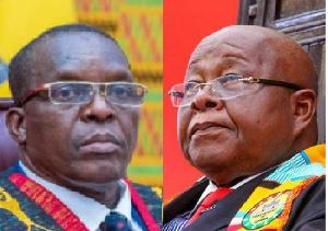 Speakers Alban Bagbin (left) and Aaron Mike Oquaye