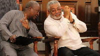 Former Presidents, John Dramani Mahama and  Jerry John Rawlings