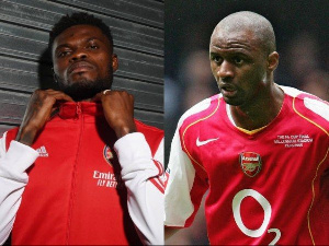 Black Stars midfielder, Thomas Partey and Arsenal legend, Patrick Vieira