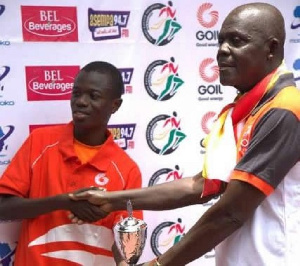 William Amponsah received a trophy