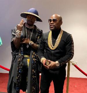 Prince of Africa, Nana Kwame Bediako with Floyd Mayweather