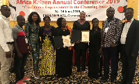 The two Ghanaian business officials, JICA and reps from other Ghanaian organisations