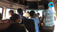 File photo of passengers in a trotro