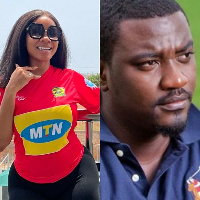 Broadcast Journalist, Serwaa Amihere and actor John Dumelo