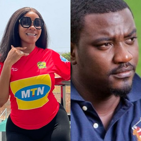 Super Clash: John Dumelo and Serwaa Amihere bet 1000 dollars on Kotoko-Hearts match