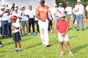 The Adamah Sisters performed the official 'tee off' at Damang Golf competition