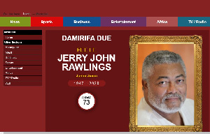 The memorial page can be accessed via the Homepage of GhanaWeb