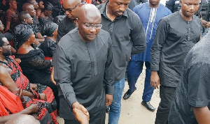 Vice Prez  Bawumia promised the family that government will be well represented at the funeral