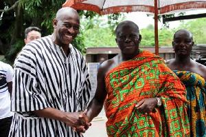 Former Asante Kotoko Executive Chairman Herbert Mensah and Asantehene
