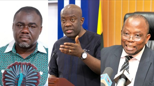 Kweku Ofori Asiamah, Transport Minister, Oppong Nkrumah, Information Minister, and AG, Domelovo