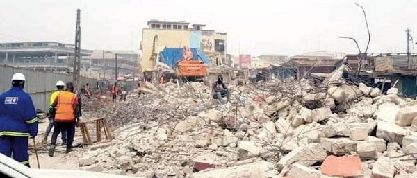 Famous Kumasi building demolished for market project