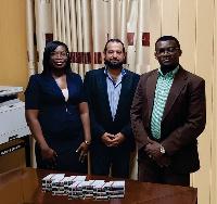 Isaac Julius Aseidu-Gyekye with Mr. Fadi Fattal and Mrs. Susan Fosua Okan