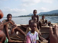 File photo: Trafficked children made to go fishing