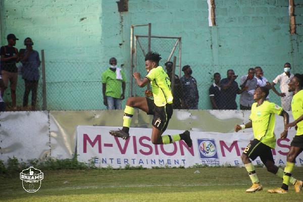 Dreams FC defeats 10-man Hearts of Oak 2-0 in Dawu