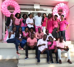 Tigo staff in a group photograph
