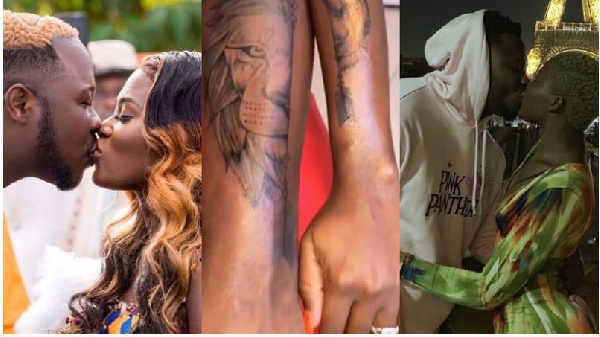 Medikal, Fella Makafui strengthen their love as they get matching tattoos