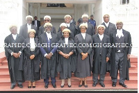 Justice of the Supreme Court with other Justices of the Supreme Court after the ceremony