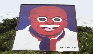 The art piece of President Akufo-Addo by MiDiCHi