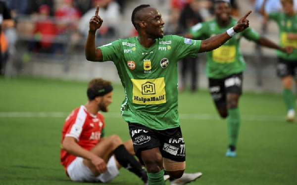 Ishmael Yartey scores fourth goal of the season in Haka 1-1 draw against Lahti
