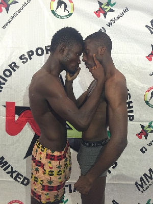 Isaac Commey clashes with British born Ghanaian Theophilus Nelson on Saturday November 4