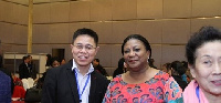 Rebecca Akufo-Addo, First Lady of the Republic of Ghana with a Chinese investor
