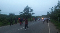 The irate NPP youth marching in town