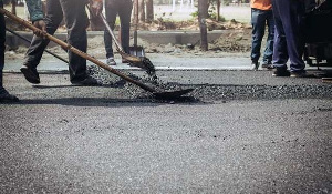 A road being constructed