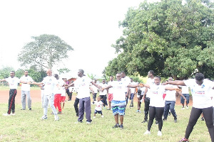 The Zoomlion staff were treated to intensive aerobics upon climbing the mountain