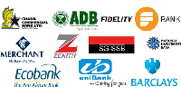 Logos of some banks operating in Ghana