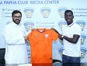 Owusu joined Al-Fayha on a three-year deal