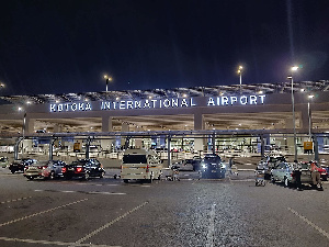 A photograph of the front view of the Kotoka International Airport