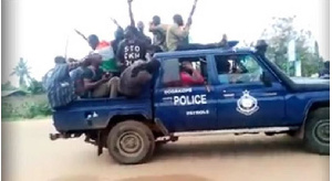 The separatist group captured a police car