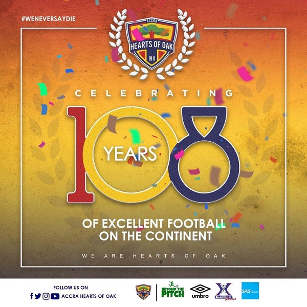 Hearts of Oak celebrate 108 years