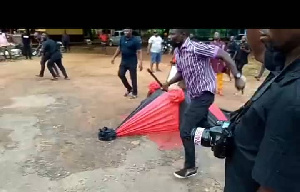 Kofi Agyei alias Jamalo is allleged to have inflicted cutlass wound on another person at the funeral