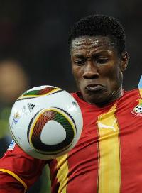 Ghana Black Stars captain Asamoah Gyan