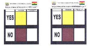 The Oti referendum sample ballot sheet