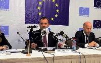 Tamás Meszerics, Chief Observer with Members of the EU EOM