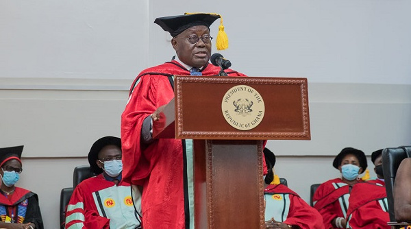 President Nana Akufo-Addo received an Honorary Doctorate degree from UCC on May 29, 2021