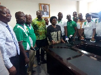 Cecilia Dapaah in a group photo with members of the KMA Subcommittee on Environment and Sanitation